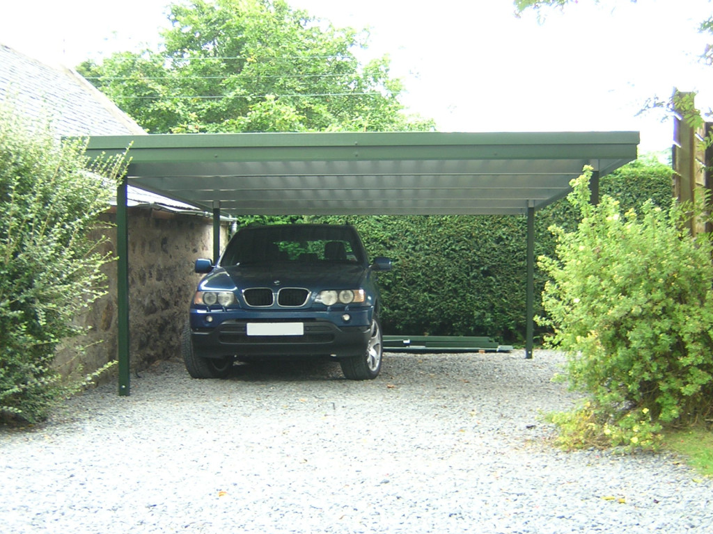 Flat Roof Car Port