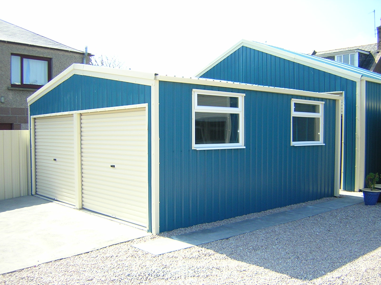 steel-double-garage-devon