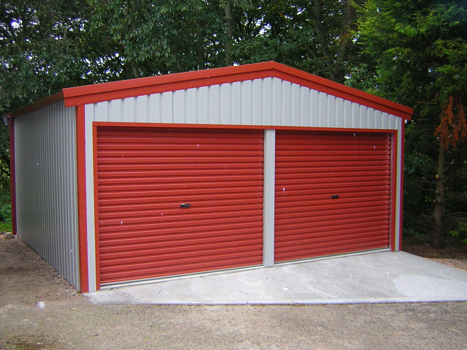 Twin Steel Garage