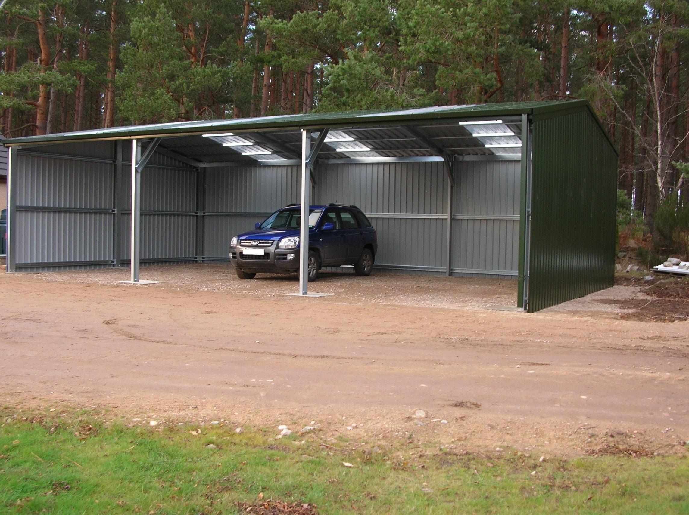 Steel Open Equipment Store - Tor Steel Buildings